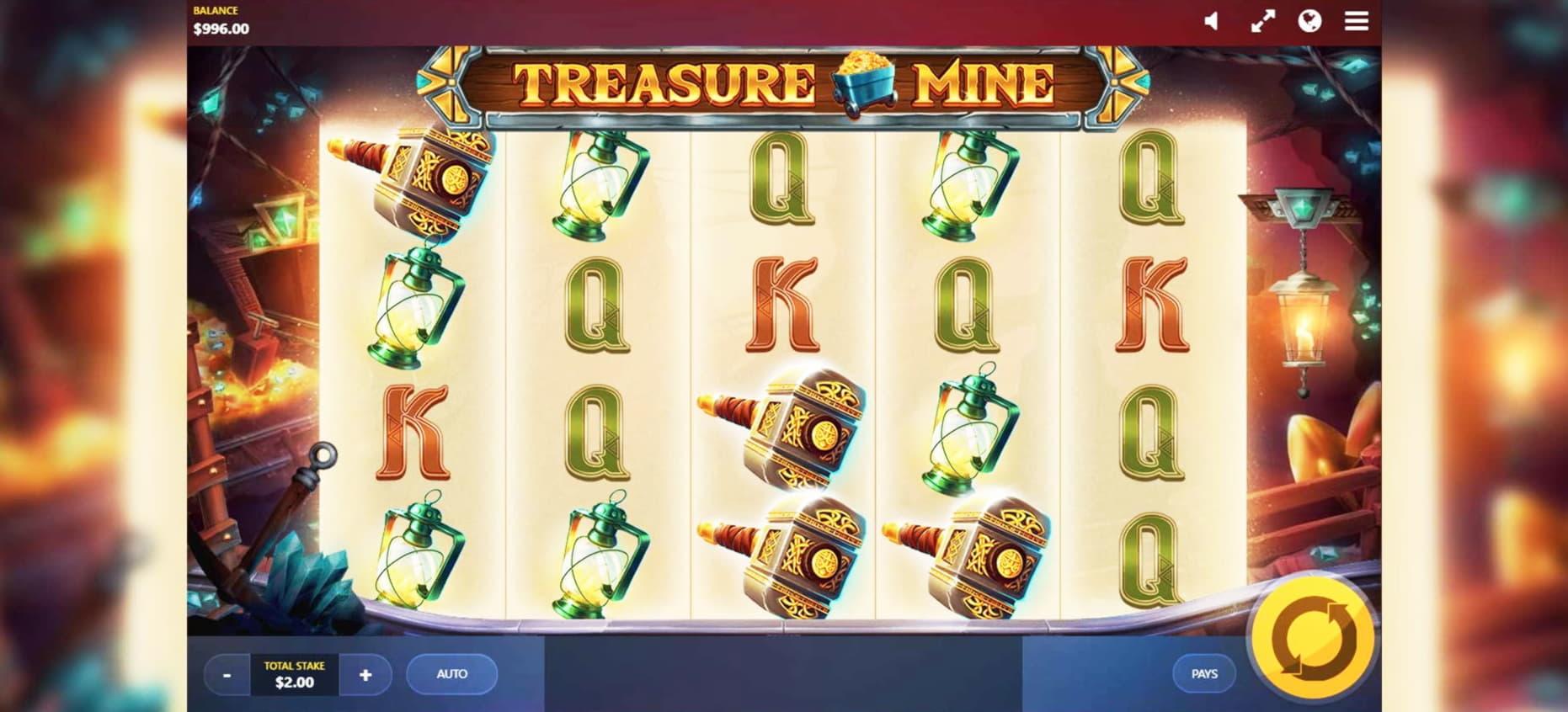 645% Lucky Nugget Casino'da bir kumarhanede maç